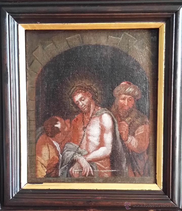 CRISTO ENCADENADO / ÓLEO SOBRE LIENZO / SIGLO XVII (Arte - Arte Religioso - Pintura Religiosa - Oleo)