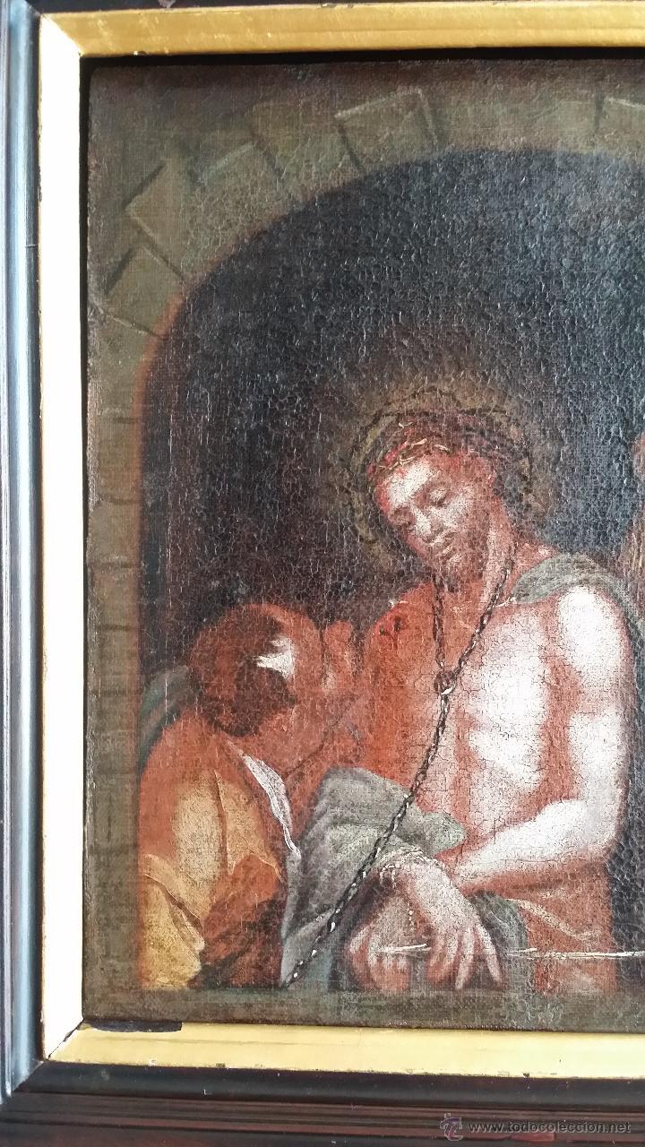 Arte: CRISTO ENCADENADO / ÓLEO SOBRE LIENZO / SIGLO XVII - Foto 2 - 53400645