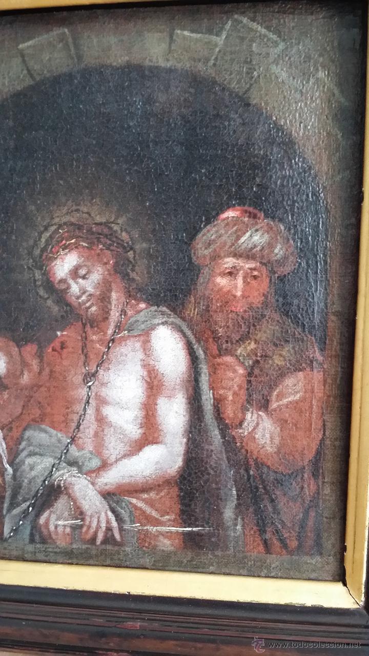 Arte: CRISTO ENCADENADO / ÓLEO SOBRE LIENZO / SIGLO XVII - Foto 3 - 53400645
