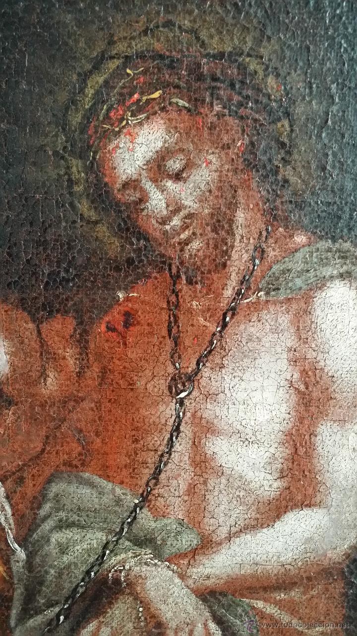 Arte: CRISTO ENCADENADO / ÓLEO SOBRE LIENZO / SIGLO XVII - Foto 4 - 53400645