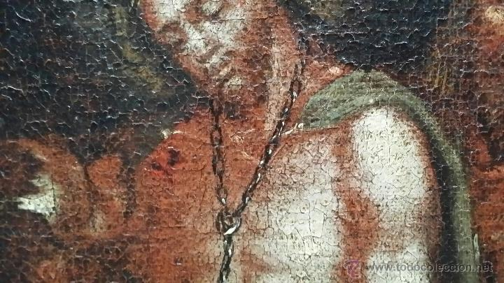 Arte: CRISTO ENCADENADO / ÓLEO SOBRE LIENZO / SIGLO XVII - Foto 6 - 53400645