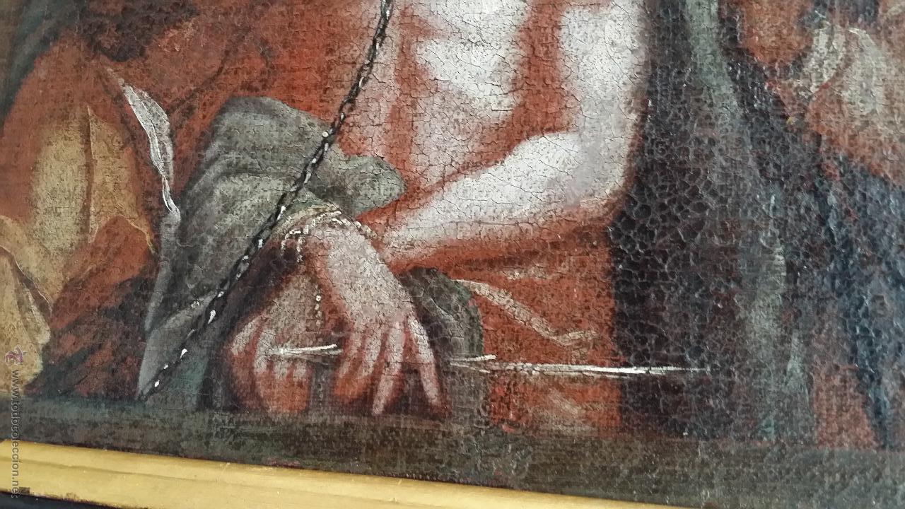 Arte: CRISTO ENCADENADO / ÓLEO SOBRE LIENZO / SIGLO XVII - Foto 7 - 53400645