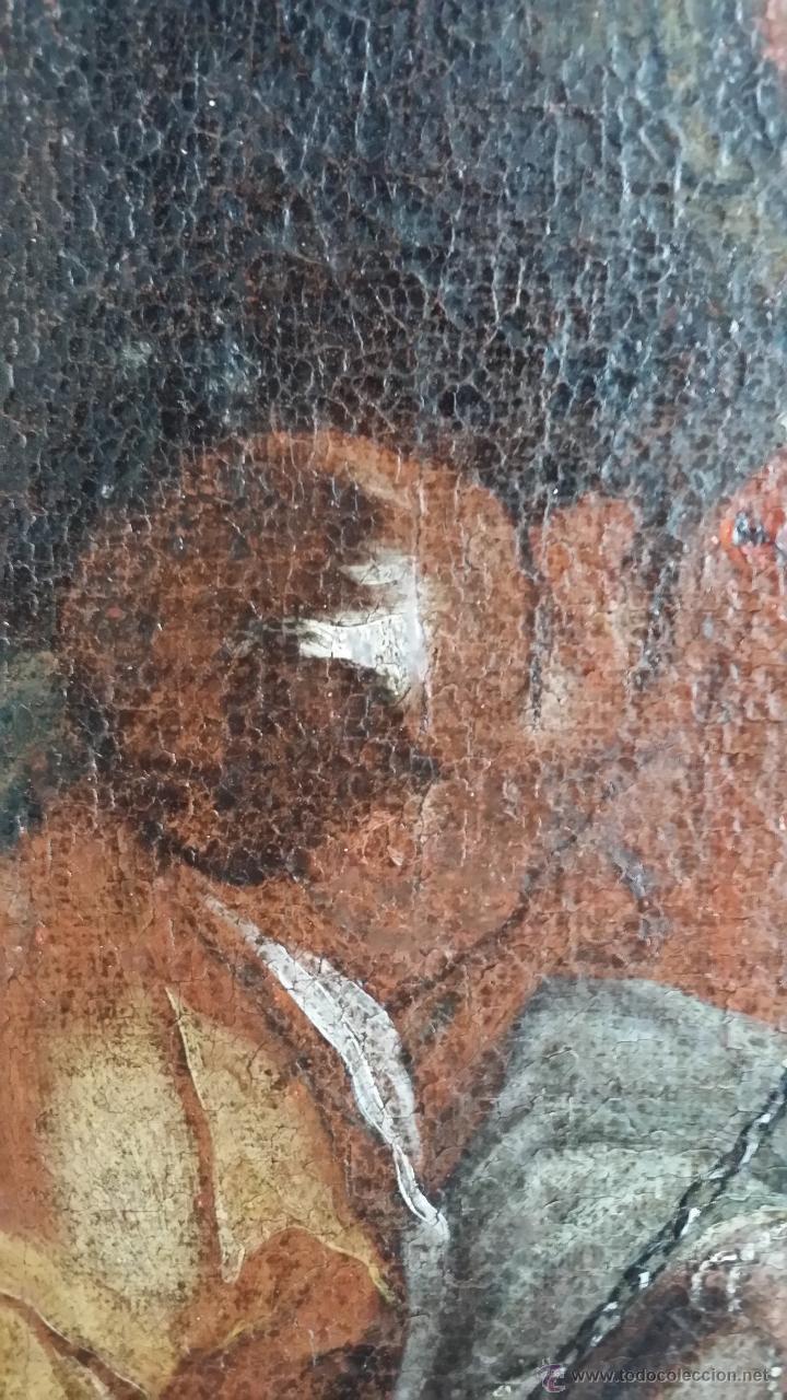 Arte: CRISTO ENCADENADO / ÓLEO SOBRE LIENZO / SIGLO XVII - Foto 8 - 53400645