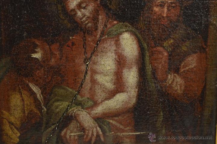 Arte: CRISTO ENCADENADO / ÓLEO SOBRE LIENZO / SIGLO XVII - Foto 9 - 53400645