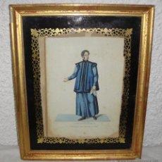 Arte: ANTIGUO GRABADO. S.XIX. SCOPATORE SEGRETO. MARCO DE MADERA, ESTUCO Y PAN DE ORO.. Lote 53447917