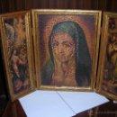 Arte: BONITO TRÍPTICO DE LA VIRGEN MARÍA. COMPRADO EN EL AÑO 1975.. Lote 53455717