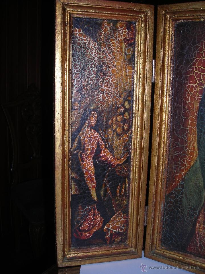Arte: Bonito tríptico de la Virgen María. Comprado en el año 1975. - Foto 2 - 53455717