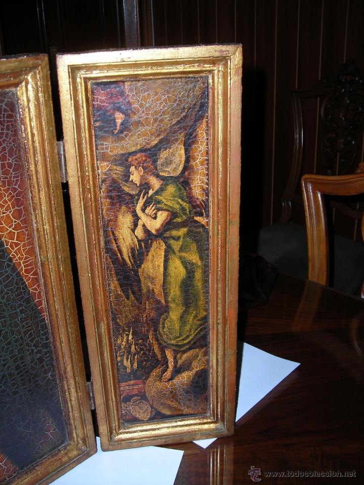 Arte: Bonito tríptico de la Virgen María. Comprado en el año 1975. - Foto 4 - 53455717
