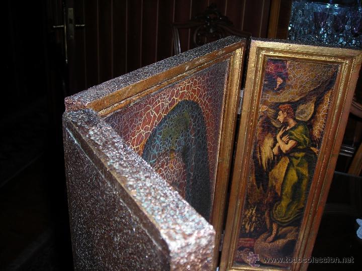 Arte: Bonito tríptico de la Virgen María. Comprado en el año 1975. - Foto 6 - 53455717
