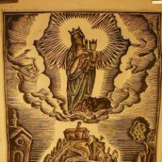 Arte: GRABADO COLOREADO Nª SEÑORA DEL TORO. Lote 53540182