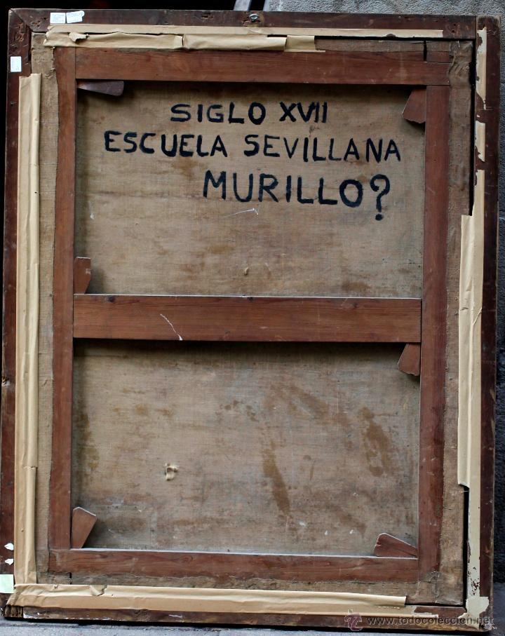 Arte: Escena con un santo, s.XVII. Placa con el nombre de Pacheco, Marco antiguo: 104x130cm. Tela: 93x118 - Foto 2 - 53657009