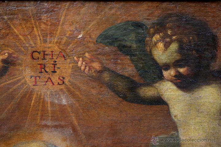 Arte: Escena con un santo, s.XVII. Placa con el nombre de Pacheco, Marco antiguo: 104x130cm. Tela: 93x118 - Foto 10 - 53657009