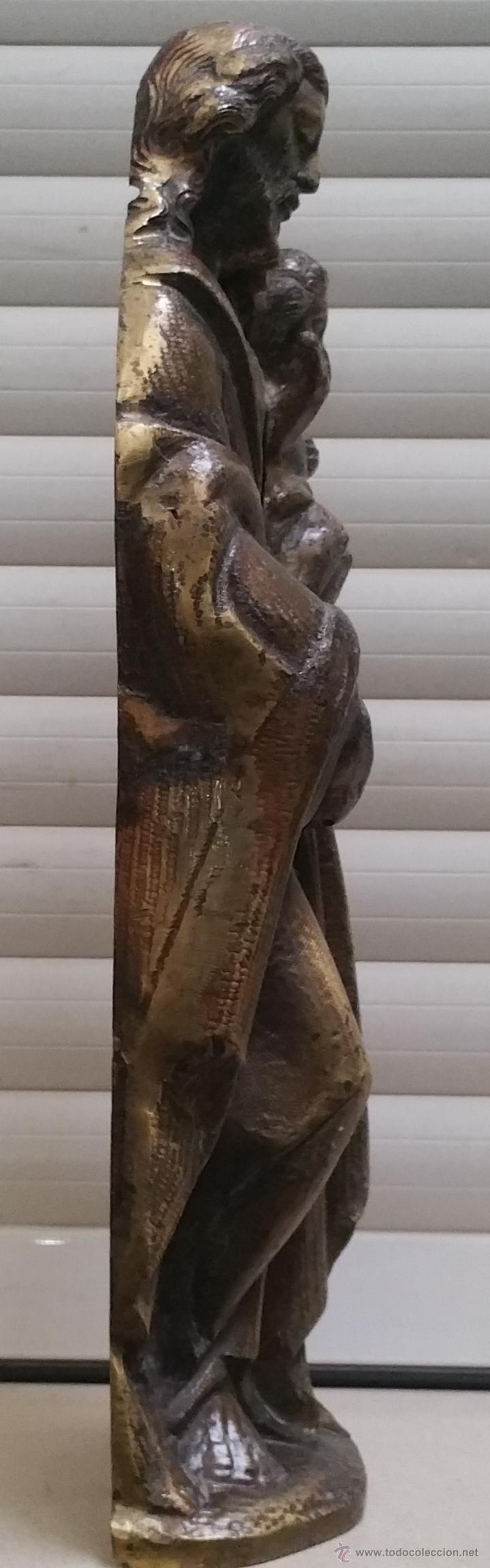 Arte: Antigua y espectacular escultura de bronce en relieve religiosa de 36x13x7cm aproximado. - Foto 3 - 53681124