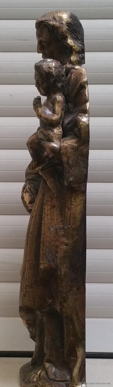 Arte: Antigua y espectacular escultura de bronce en relieve religiosa de 36x13x7cm aproximado. - Foto 4 - 53681124