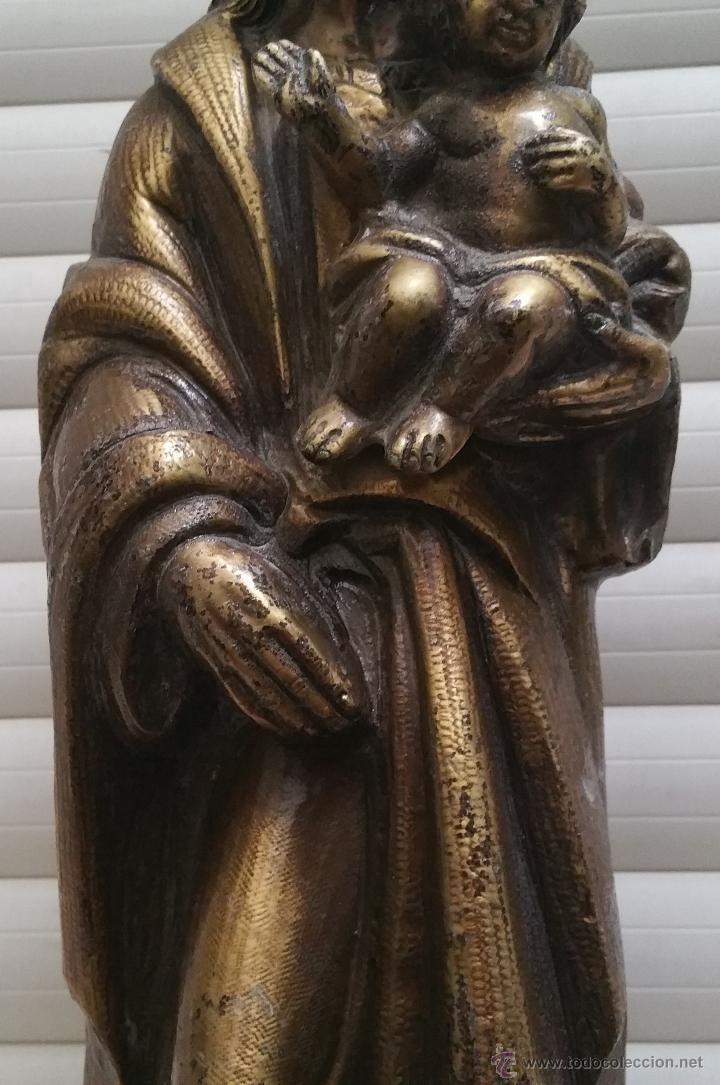 Arte: Antigua y espectacular escultura de bronce en relieve religiosa de 36x13x7cm aproximado. - Foto 6 - 53681124
