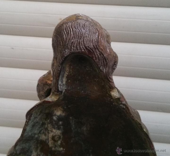 Arte: Antigua y espectacular escultura de bronce en relieve religiosa de 36x13x7cm aproximado. - Foto 10 - 53681124