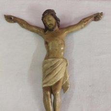Arte: ANTIGUA TALLA ESCULTURA DE CRISTO EN MADERA Y POLICROMADA. Lote 53721863
