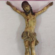 Arte: ANTIGUA TALLA ESCULTURA DE CRISTO EN MADERA Y POLICROMADA. Lote 53728307