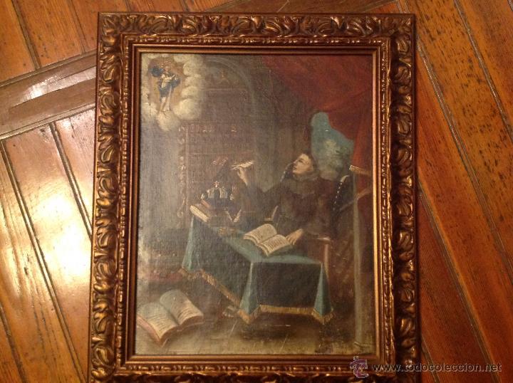 OLEO SOBRE LIENZO ESCRIBANO XVIII (Arte - Arte Religioso - Pintura Religiosa - Oleo)