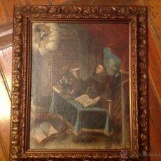 Arte: OLEO SOBRE LIENZO ESCRIBANO XVIII. Lote 53821490