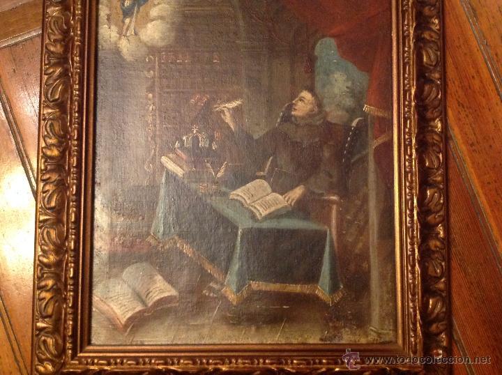 Arte: oleo sobre lienzo escribano XVIII - Foto 2 - 53821490