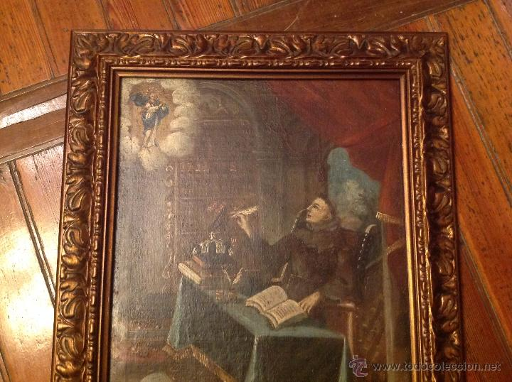 Arte: oleo sobre lienzo escribano XVIII - Foto 3 - 53821490