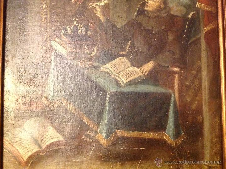 Arte: oleo sobre lienzo escribano XVIII - Foto 4 - 53821490