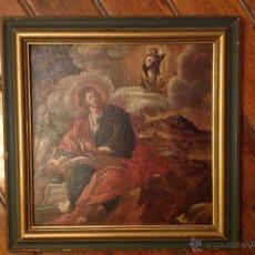 """Arte: OLEO SOBRE TABLA O TABLA.S XVIII """"EL TEMA ICINOGRAFICO SERIA -- APARICION DE LA VIRGEN A S. JUAN. Lote 53821546"""