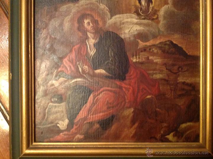 "Arte: oleo sobre tabla O Tabla.S XVIII ""El tema icinografico seria -- aparicion de la Virgen a S. Juan - Foto 2 - 53821546"