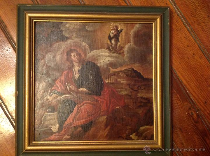 "Arte: oleo sobre tabla O Tabla.S XVIII ""El tema icinografico seria -- aparicion de la Virgen a S. Juan - Foto 4 - 53821546"