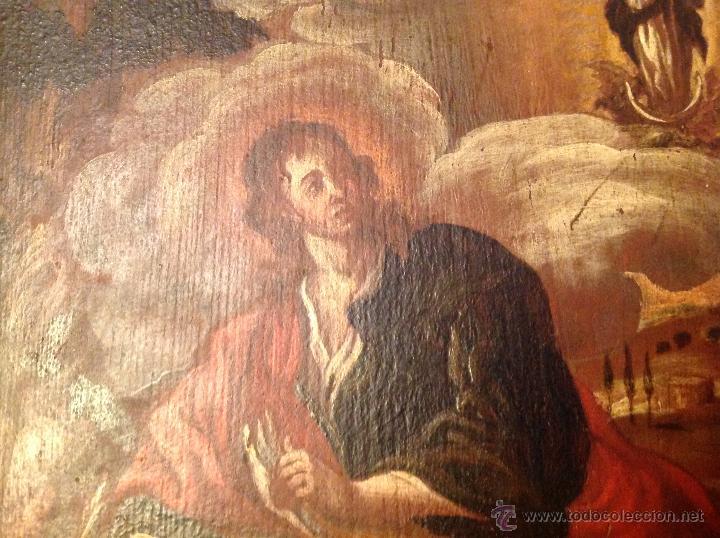 "Arte: oleo sobre tabla O Tabla.S XVIII ""El tema icinografico seria -- aparicion de la Virgen a S. Juan - Foto 6 - 53821546"