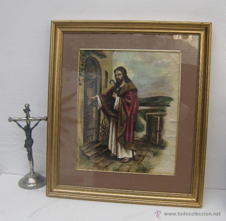 precioso cuadro pintura oleo sobre seda antiguo - Comprar Pintura ...