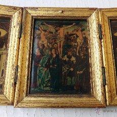 Arte: CURIOSO TRIPTICO, RELIGIOSO , ORIGINAL. Lote 53957788
