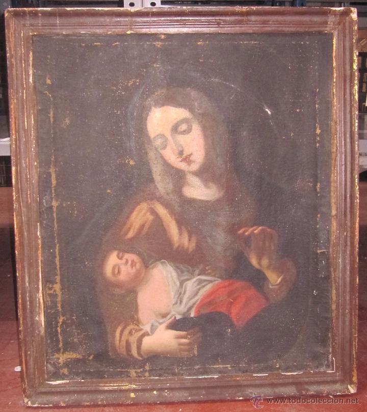 cuadro de la virgen maría y niño jesús. 82 x 71 - Comprar Pintura ...