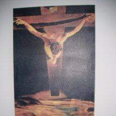 Arte: CUADRO EL CRISTO DE DALI, REPRODUCCION, FOTOLIENZO EN MADERA. Lote 53860754