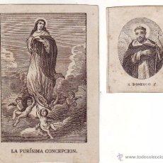 Arte: DOS GRABADOS SIGLO XIX RELIGIOSOS. Lote 54024051