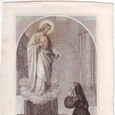 Arte: GRABADO SIGLO XIX RELIGIOSO LA BEATA MARGARITA AL.ACOQUE. Lote 54025217