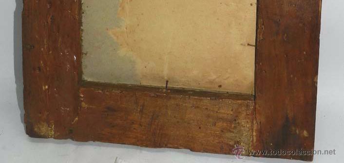 Arte: PINTURA OLEO SOBRE COBRE DE JESUCRISTO CON LOS ANGELES, SIGLO XVIII, CON ESPECTACULAR MARCO CON TRAB - Foto 8 - 54025849