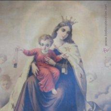 Arte: LITOGRAFIA DE LA VIGEN DEL CARMEN DE 48 X 63 CM.IMPRESA EN SUIZA.. Lote 54107633