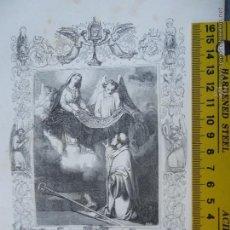 Arte: REF: KK - AÑO 1852 ORIGINAL GRABADO DE LA EPOCA RELIGIOSO - SAN IDELFONSO ARZOBISPO DE TOLEDO. Lote 54207393