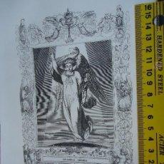 Arte: REF: KK - AÑO 1852 ORIGINAL GRABADO DE LA EPOCA RELIGIOSO - SAN GABRIEL ARCANGEL. Lote 54208508