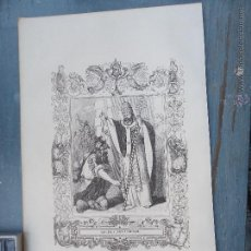 Arte: REF: KK - AÑO 1852 ORIGINAL GRABADO DE LA EPOCA RELIGIOSO - SAN LEON I PAPA Y CONFESOR. Lote 54208879