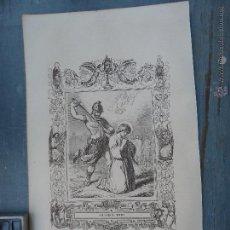 Arte: REF: KK - AÑO 1852 ORIGINAL GRABADO DE LA EPOCA RELIGIOSO - SAN VICENTE MARTIR. Lote 54208999