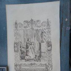 Arte: REF: KK - AÑO 1852 ORIGINAL GRABADO DE LA EPOCA RELIGIOSO - SAN PIO PAPA. Lote 54209190