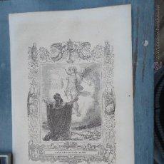Arte: REF: KK - AÑO 1852 ORIGINAL GRABADO DE LA EPOCA RELIGIOSO - LA APARICION DE SAN MIGUEL ARCANGEL . Lote 78107693