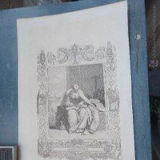 Arte: REF: KK - AÑO 1852 ORIGINAL GRABADO DE LA EPOCA RELIGIOSO - SAN IGNACIO NACIANCENO. Lote 54209292