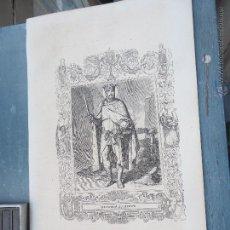Arte: REF: KK - AÑO 1852 ORIGINAL GRABADO DE LA EPOCA RELIGIOSO - SAN FERNANDO REY DE ESPAÑA. Lote 54209561