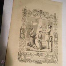 Arte: REF: KK - AÑO 1853 ORIGINAL GRABADO DE LA EPOCA RELIGIOSO - SANTA AMALIA Y RUFINA HERMANAS MARTIRES. Lote 54214231