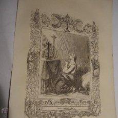 Arte: REF: KK - AÑO 1853 ORIGINAL GRABADO DE LA EPOCA RELIGIOSO - SANTA PRAXEDE VIRGEN. Lote 54214384
