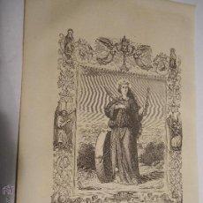 Arte: REF: KK - AÑO 1853 ORIGINAL GRABADO DE LA EPOCA RELIGIOSO - SANTA CRISTINA VIRGEN Y MARTIR. Lote 54215371